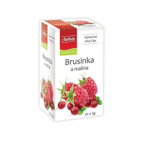 Apotheke ovocný čaj - Brusinka a malina 20x2 g