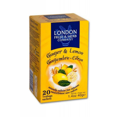 London Fruit & Herb - Citron se zázvorem 20x2g