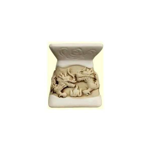 AROMATIKA aroma lampa bílá basreliéf Draci Aromatika