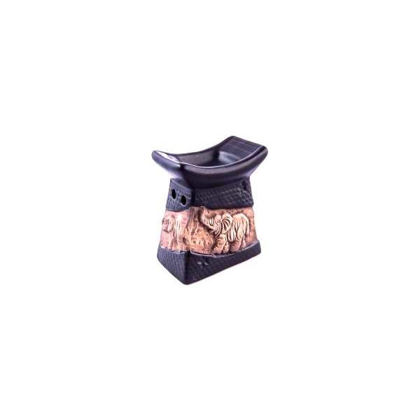 AROMATIKA aroma lampa černá basreliéf Slon Aromatika