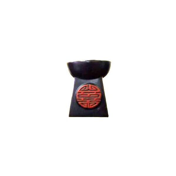 AROMATIKA aroma lampa pyramida černá s červeným hieroglyfem Aromatika