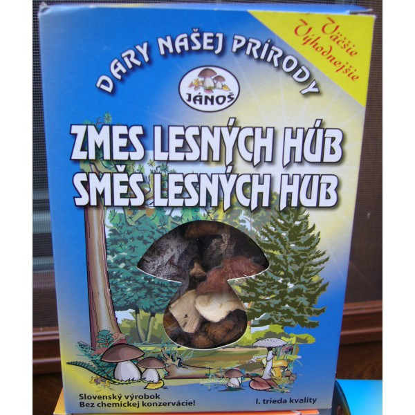 Směs lesních hub , Hmotnost: 20 g JÁNOŠ