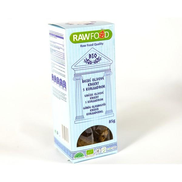BIO Řecké olivové krekry s koriandrem 85g RawFood