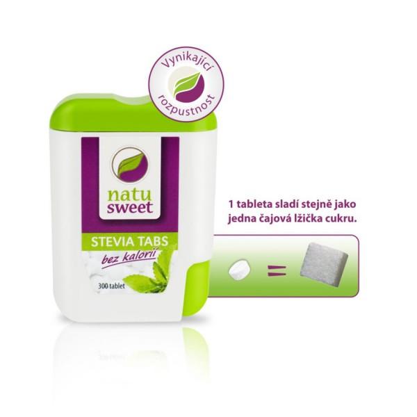 Stevia Tabs 18g - 300 tbl Natusweet Natusweet