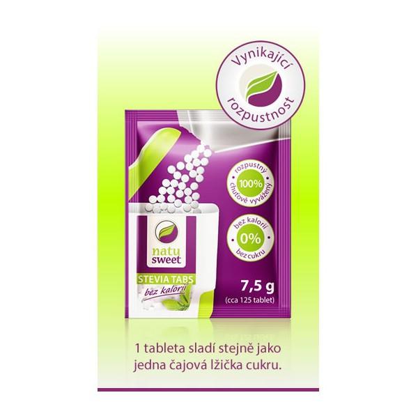 Stevia Natusweet tabl.-sáčky do dávk.1x7.5 g 125 ks Natusweet