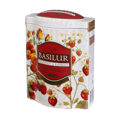 Basilur ovocný Strawberry and Raspberry plech 100 g