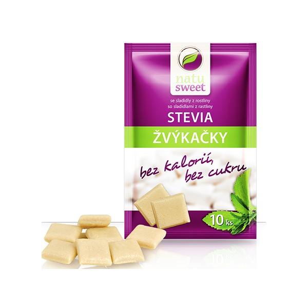 Natusweet Stevia žvýkačky sáček 10ks 7,5g Natusweet