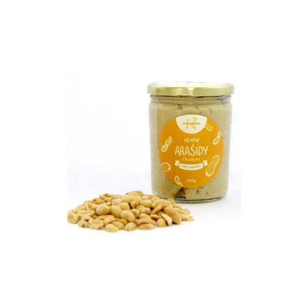 Navařeno Ořechový krém arašídový s kousky (crunchy) 380 g Navařeno