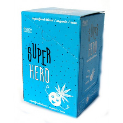 Dragon Superfoods Super Hero blend (konopný protein, maca, kakao) 14×13 g