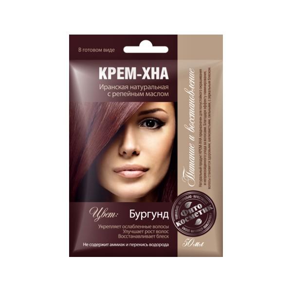 Fotografie Fitokosmetik Krémová henna Burgund 50 ml Fito kosmetik K1235