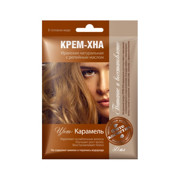 Fotografie Fitokosmetik Krémová henna Karamel 50 ml Fito kosmetik K1237