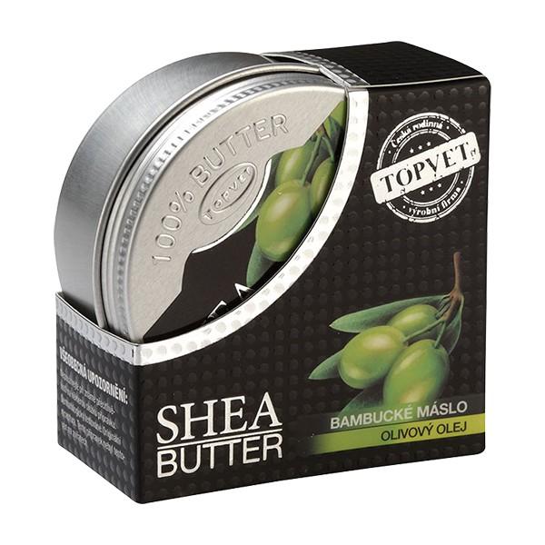 TOPVET Bambucké máslo (shea butter) s olivovým olejem 100ml Topvet 818