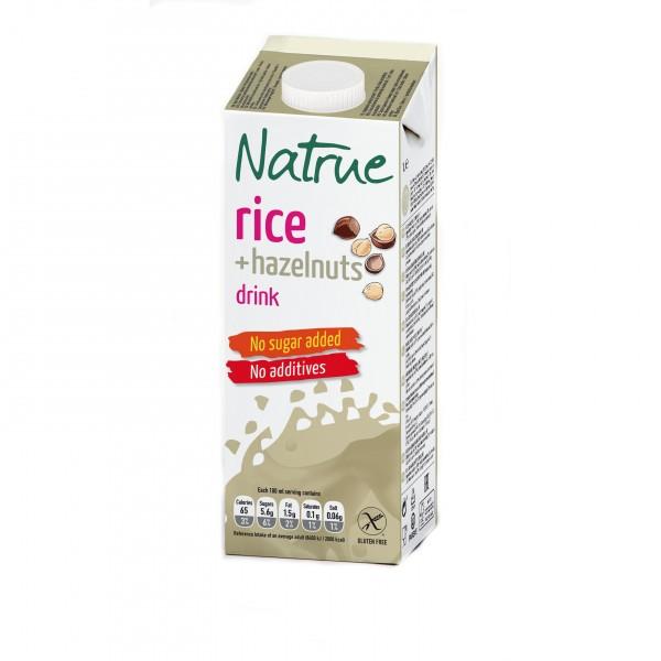 Natrue rýžovo-lískooříškový nápoj bez lepku a přidaného cukru 1000 ml Liquats Vegetals
