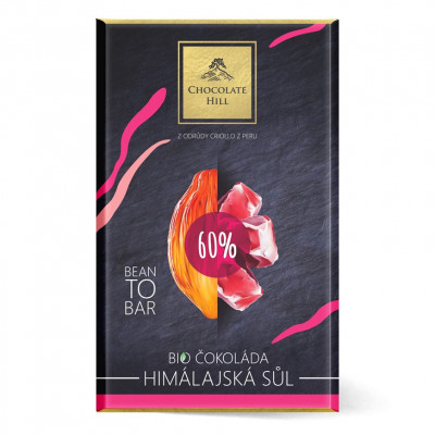 Chocolate Hill Bean To Bar 60% čokoláda s himalájskou solí BIO 60 g