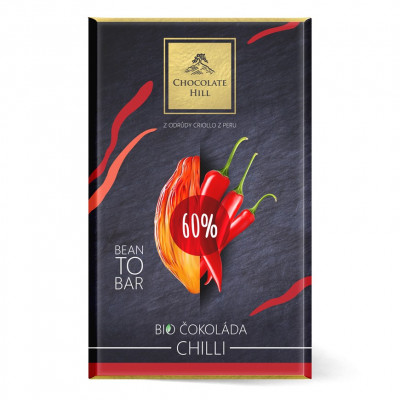 Chocolate Hill Bean To Bar 60% čokoláda s chilli BIO 60 g