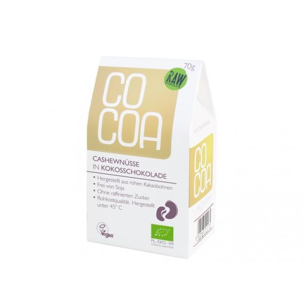 COCOA bio kešu v kokosové raw čokoládě 70 g COCOA