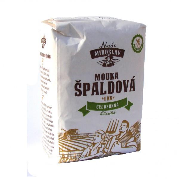 Špaldová mouka celozrnná hladká 1 kg Naše Miroslav