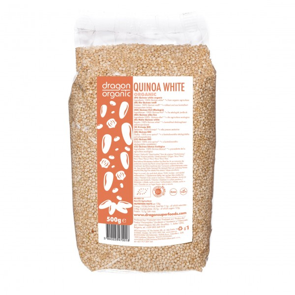 Dragon Superfoods quinoa bílá BIO RAW 500 g Dragon Superfoods