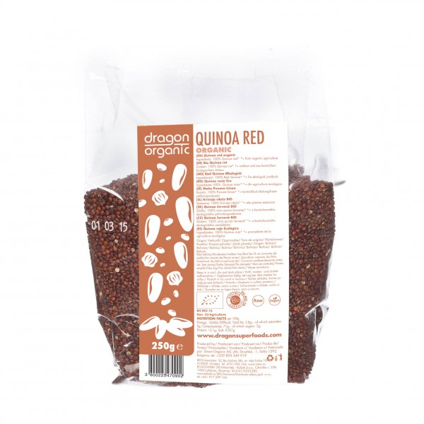 Dragon Superfoods quinoa červená BIO RAW 250 g Dragon Superfoods