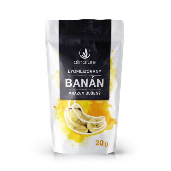 Allnature banán sušený mrazem plátky 20 g Allnature