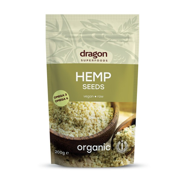 Dragon Superfoods konopná semínka loupaná 200 g Dragon Superfoods