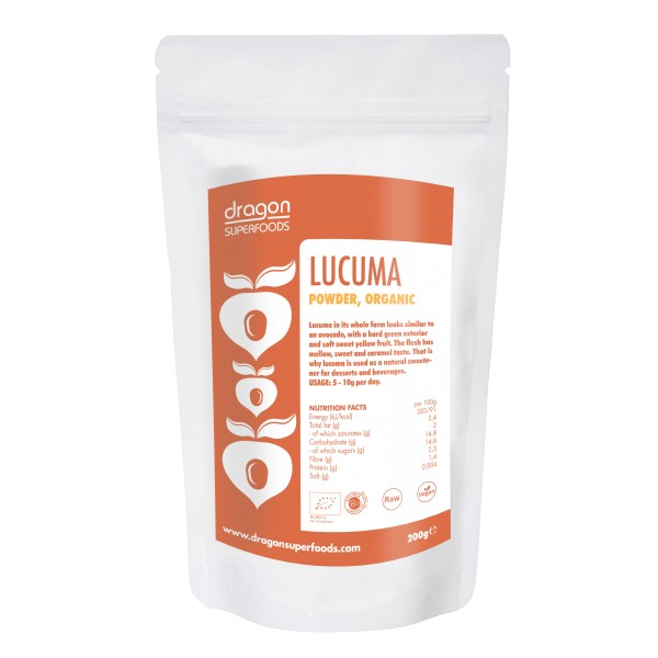 Dragon Superfoods Lucuma prášek 200 g Dragon Superfoods