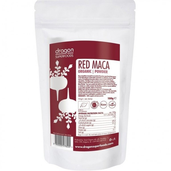 Dragon Superfoods Maca červená prášek 100 g Dragon Superfoods