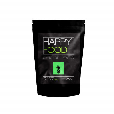 HAPPYFOOD Chlorella prášek BIO RAW 200 g