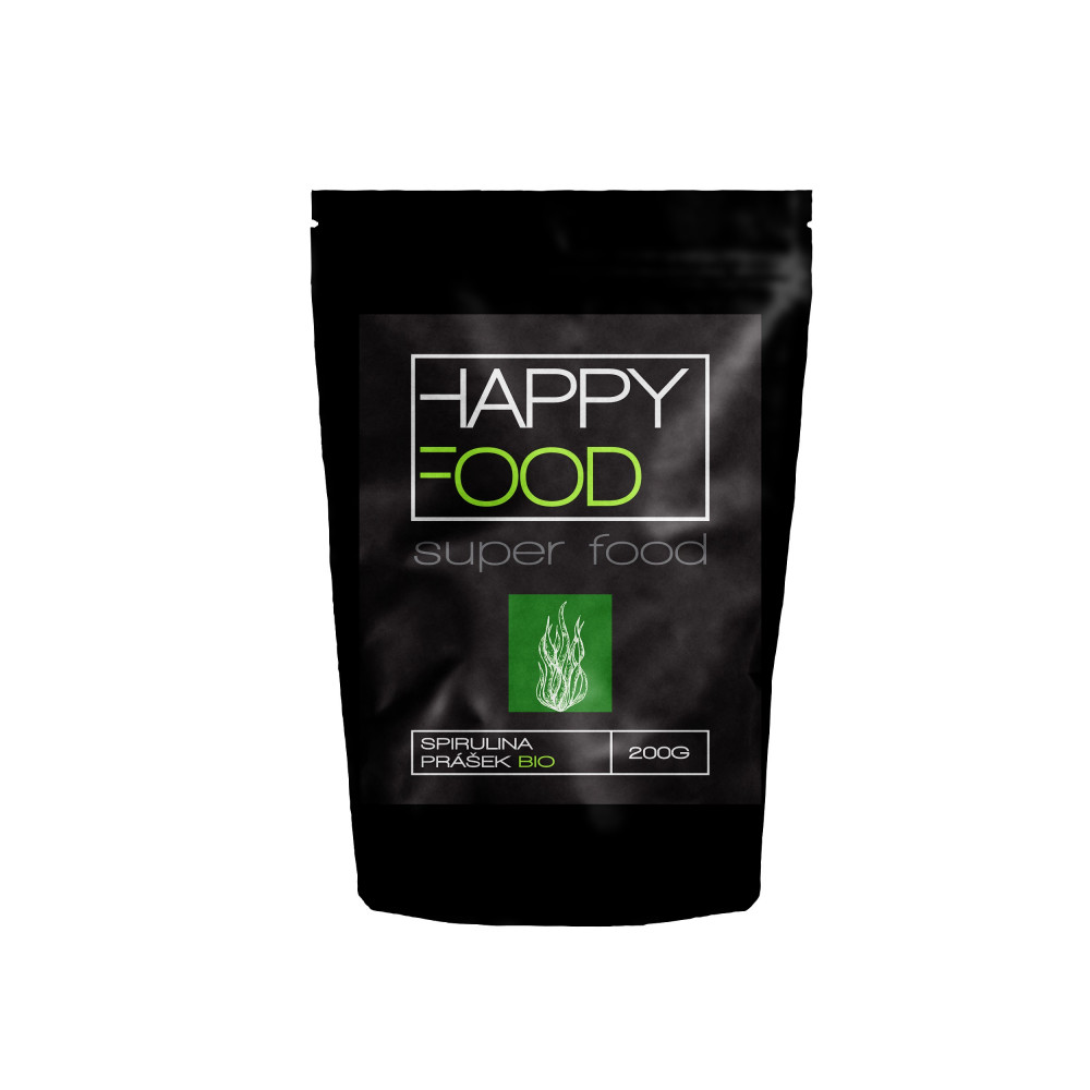 HAPPYFOOD Spirulina prášek BIO RAW 200 g