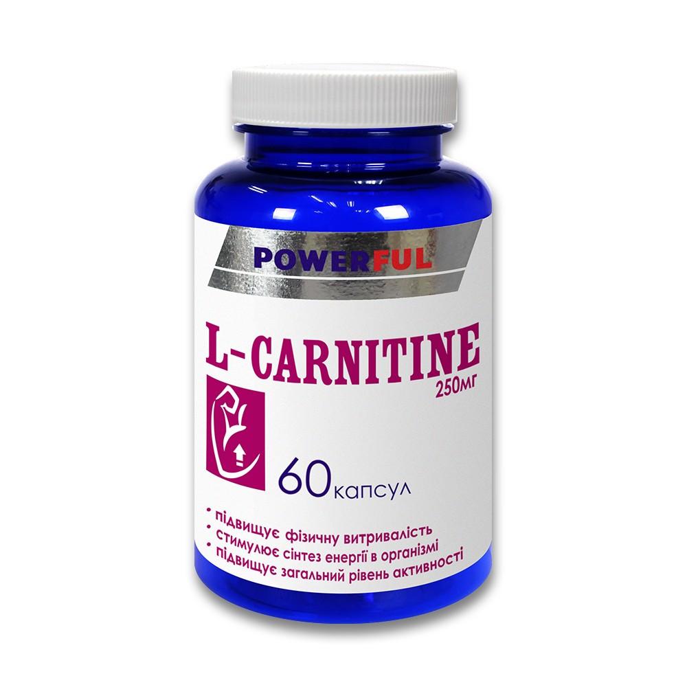 L-karnitin POWERFUL 60 kapslí