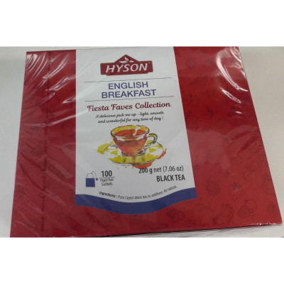 Hyson English Breakfast černý čaj 100 ks
