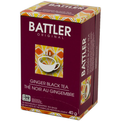 Battlers Ginger Black Tea (20x2g)