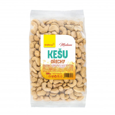 Kešu celé medium 500 g Wolfberry