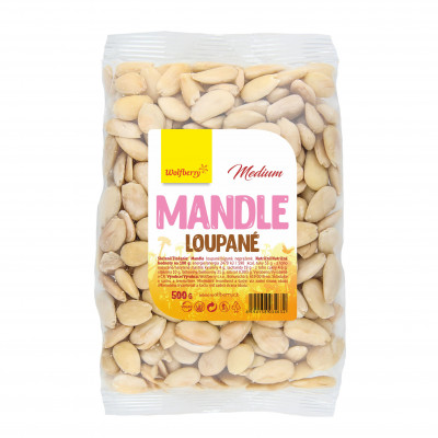 Mandle loupané medium 500 g Wolfberry