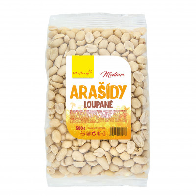 Arašídy loupané medium 500 g Wolfberry