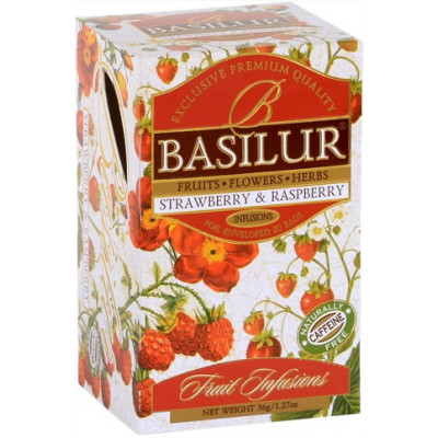 BASILUR Fruit Strawberry & Raspberry 20x1,8g