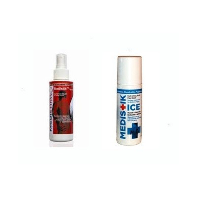 Medistik Duo – (analgetický spray 118 ml + ICE Rollon 89 ml)