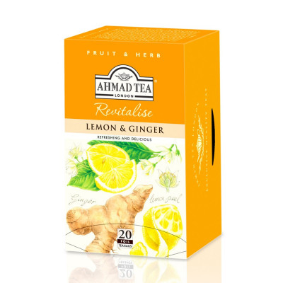 Ahmad Tea Lemon Ginger 20 x 2 g