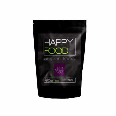 HAPPYFOOD Açaí prášek BIO RAW 75 g
